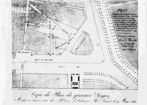 Plan du quartier Singer