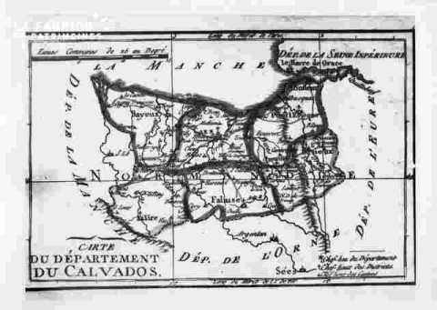 Carte du Calvados