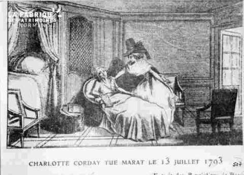 Charlotte Corday-Mort de Marat