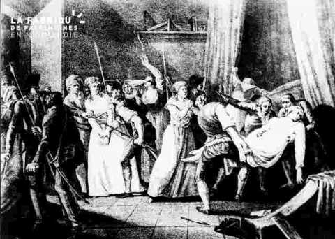 Charlotte Corday-Exécution