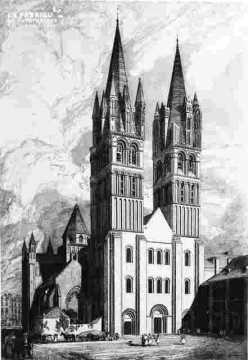 Saint Etienne-vu de la pl Guilloire