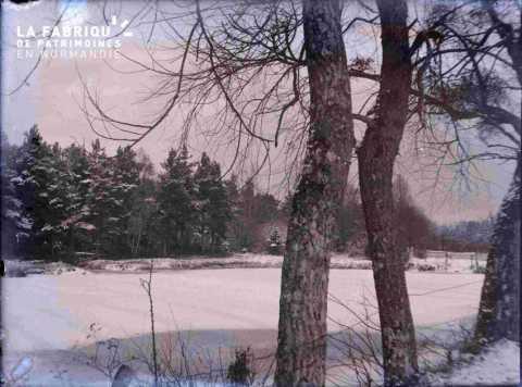 Argentan paysage sous la neige