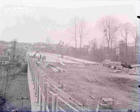 Argentan construction de l'avenue de la forêt Normande 1938