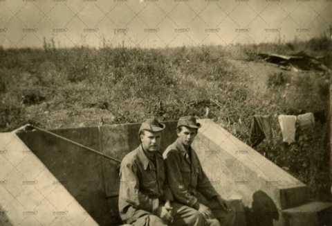Portrait de deux soldats français