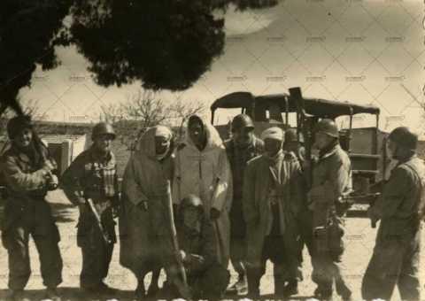 Soldats français et algériens