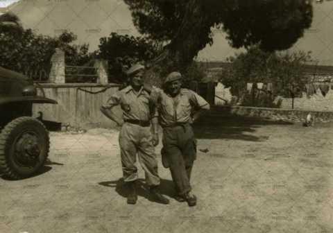 Portrait de deux soldats