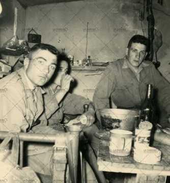 Repas, soldat français