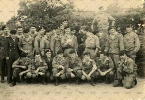 Photographie de groupe, soldats français