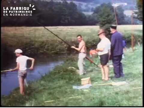 1970, concours de pêche.à Boissy-Maugis
