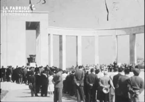 1955, commémorations à Colleville-sur-mer