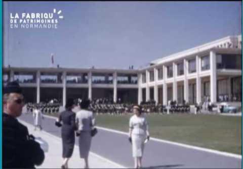 Inauguration de l'université de Caen en 1957