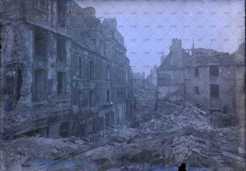 Caen en ruines, 16-22 rue des Teinturiers