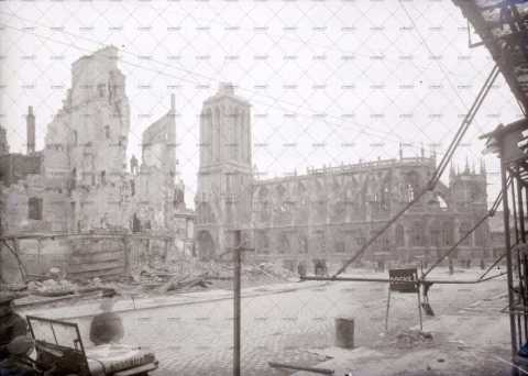 Caen en ruines, Boulevard des Alliés