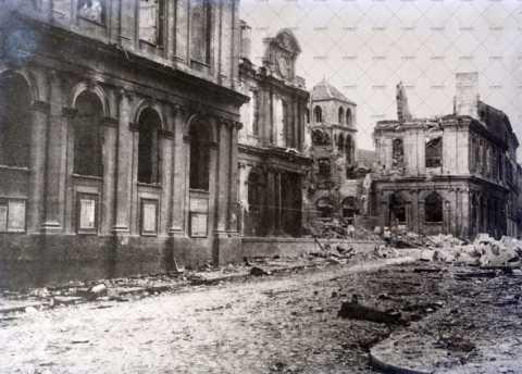 Caen en ruines, rue Pasteur