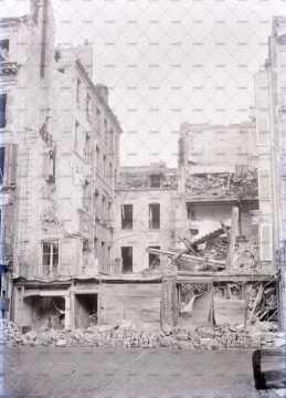Caen en ruines, rue de Strasbourg