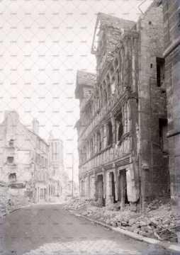 Caen en ruines, rue de Geôles