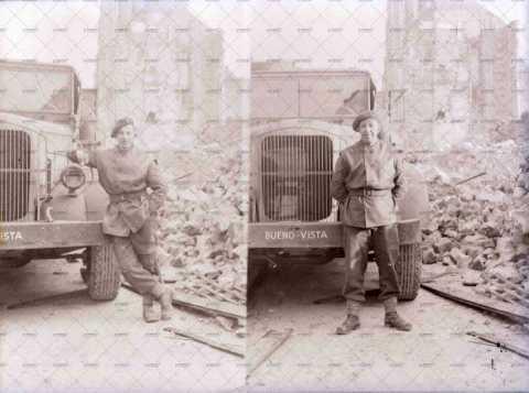 Soldats, Caen en ruines