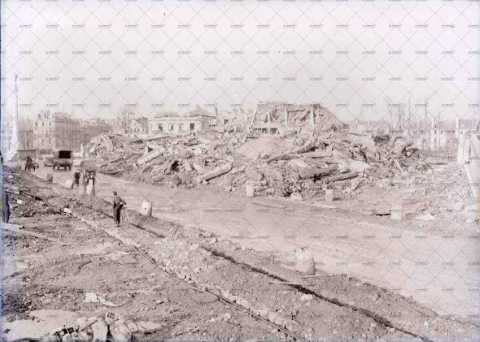 Caen en ruines, rue du 11 novembre