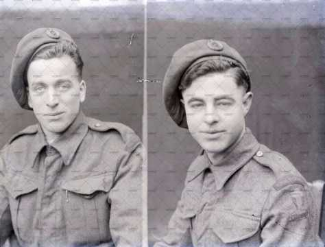 Portrait de soldats britanniques