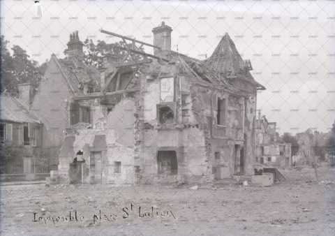 Caen en ruines, 14 rue de l'Eglise Saint-Julien