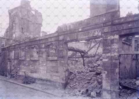 Caen en ruines, 10 rue de l'Engannerie