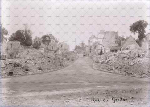 Caen en ruines, rue du Gaillon
