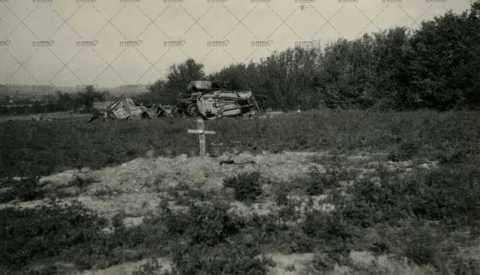 Août 1944, Paysage dévasté par les combats