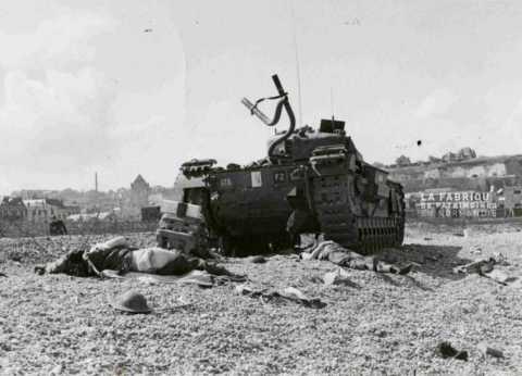 Le 19 août 1942, opération Jubilee, raid de Dieppe