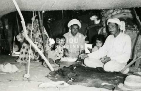 Famille nomade en Algérie
