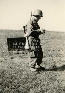 Soldat français en formation durant son service militaire