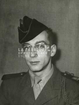 Portrait d'un soldat français en Algérie