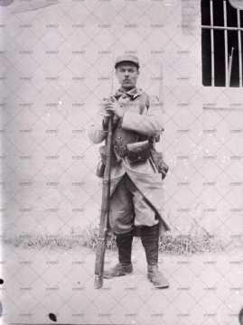 Portrait d'une jeune militaire