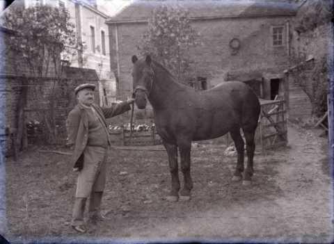 Vieil homme et son cheval