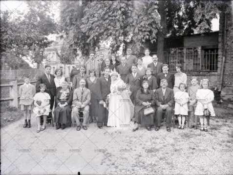 Photographie de groupe, mariage