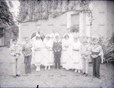 Photographie de groupe, communion