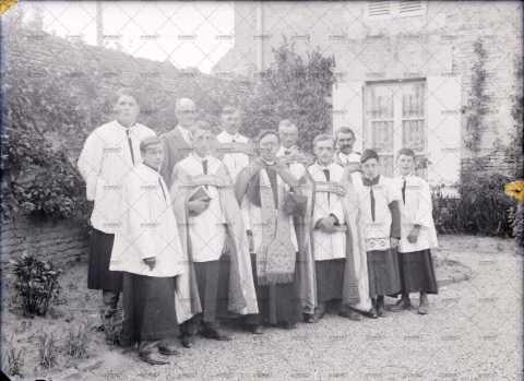 Photographie de groupe, hommes d'église