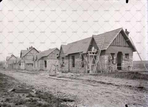 Construction d'un quartier, années trente