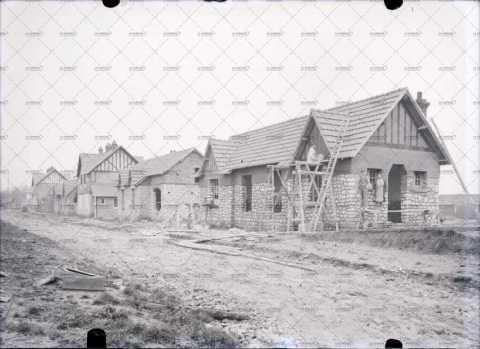 Quartier en construction, années trente