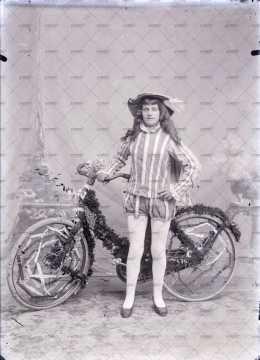 Portrait d'un enfant déguisé