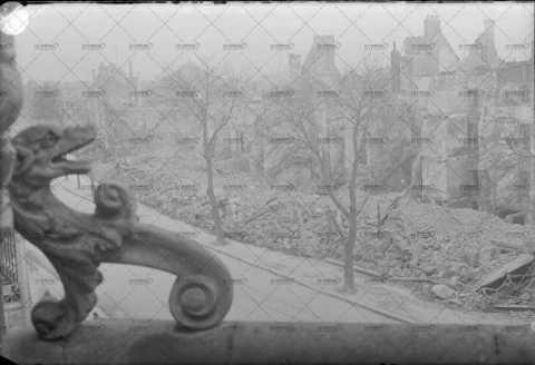 Ruines de Caen en 1944