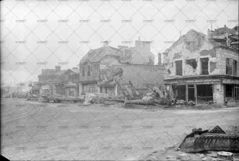 Caen, ruines de l'avenue de la gare