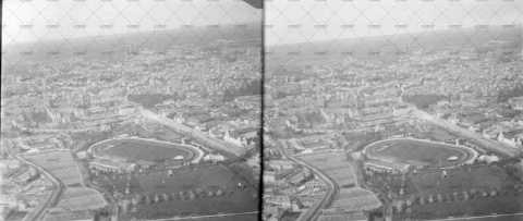 Vue aérienne de la ville de Caen