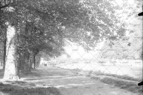 Caen, passerelle sur l'Orne