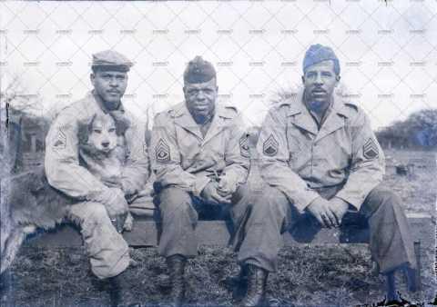 Portrait de 3 sergents américains