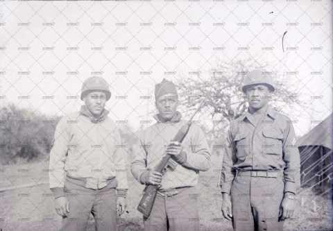 Portrait de 3 soldats américains