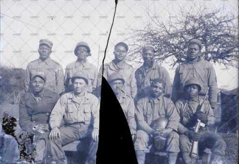 Groupe de soldats américains