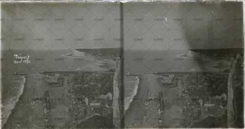 Vue des hauteurs du Tréport