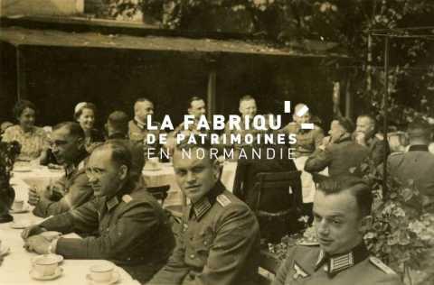 Repas  des officiers allemands à Deauville