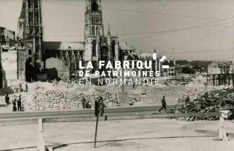 Ruines de Rouen après les bombardements de 1940