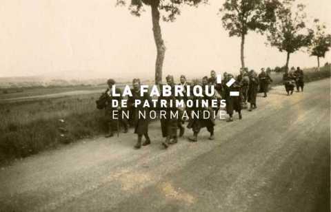 Groupe de soldats français prisonniers par l'armée allemande en Normandie